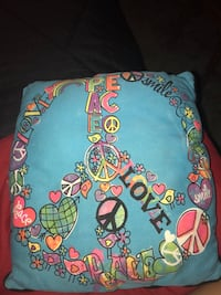 Peace and love pillow