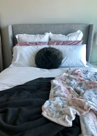 Dark Gray Fur Throw Pillow - West Elm Denver, 80202