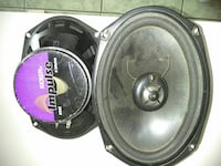 two black coaxial speakers