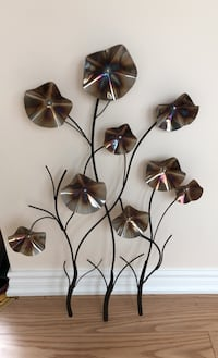 Wall decoration metal flowers