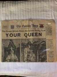 London Evening News June 2, 1953 paper Manassas, 20109