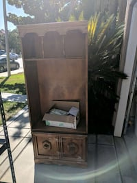 brown wooden cabinet with shelf Rancho Cucamonga, 91730