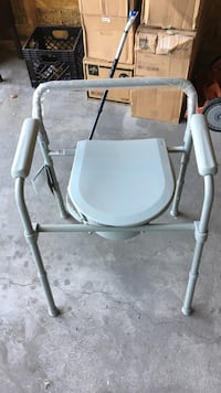 white and gray commode chair Chicago, 60612