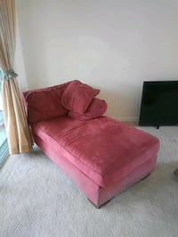 pink fabric sofa chair with ottoman Cape Coral, 33914