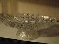 Vintage sectioned pineapple pedestal dish 3167 km
