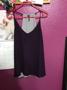 women's purple spaghetti strap top