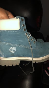 pair of blue Timberland work boots Decatur, 35601