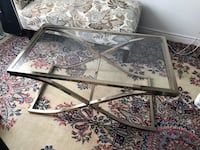 Beautiful glass + metal coffee table  Toronto, M5G 0B1