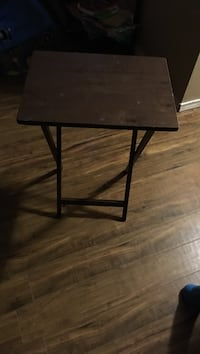 Square brown wooden side table Red Deer, T4P 2X5
