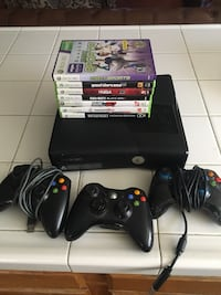 Xbox 360 S with games  Jurupa Valley, 92509