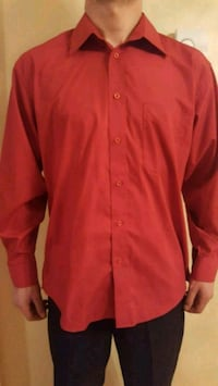 red button-up long sleeve shirt Laval, H7X 3T5