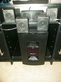 black and gray home theater system Albuquerque, 87105