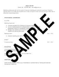 Resume Writing Services Chamblee