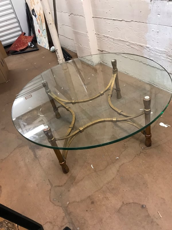 1940s glass coffee table 1
