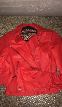 red zip-up jacket Toronto, M4E 1R4