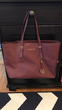 Michael Kors Leather Top-Zip Tote Washington, 20008