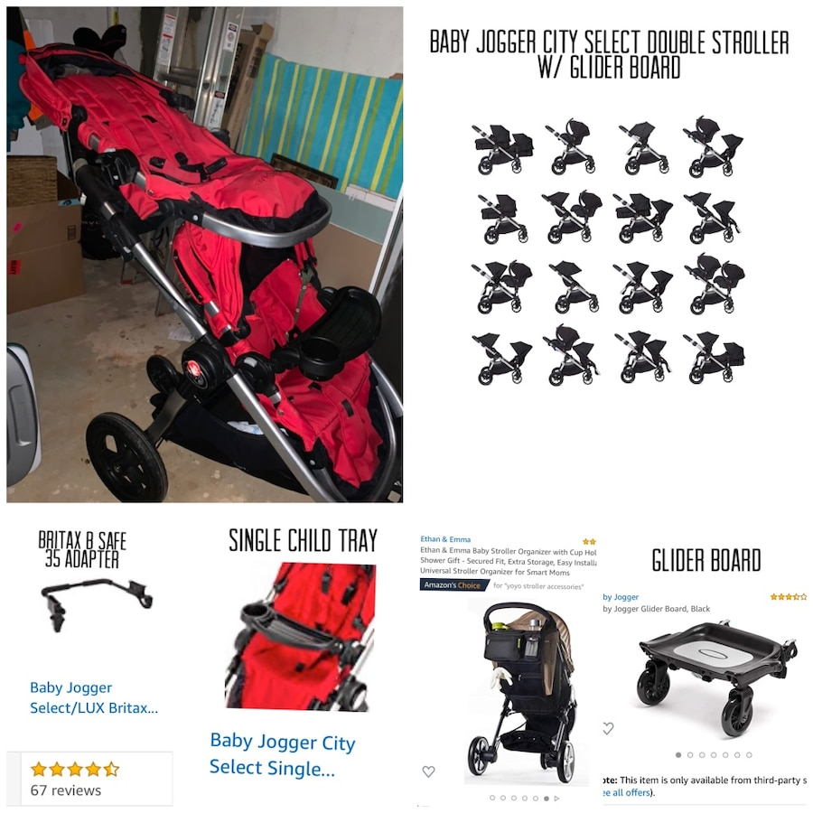 Photo Double City Select Baby Jogger / Glider