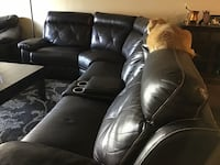 Brown Faux leather sectional couch Kennewick, 99336