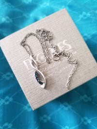 silver chain link necklace with pendant Toronto, M8W 2B5
