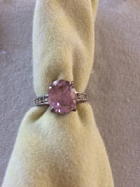 Sterling silver w/ pink jewel ring Lawrenceville, 62439