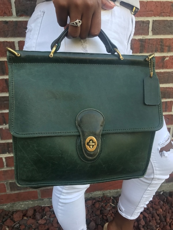 e026bc733bcc Used Green Coach leather handbag (no strap) for sale in Lake Charles ...