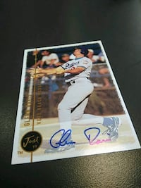 autographed baseball player trading card Baltimore, 21212