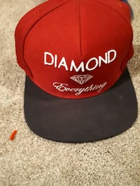 red and black fitted cap Edmonton, T5Y 1H9