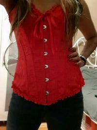 XS Red Lace Corset