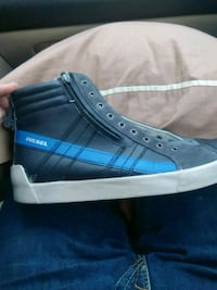 unpaired blue and white high-top sneaker Indianapolis, 46260