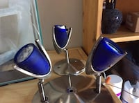 Two black-and-blue salon chairs Mascouche, J7K 3X4