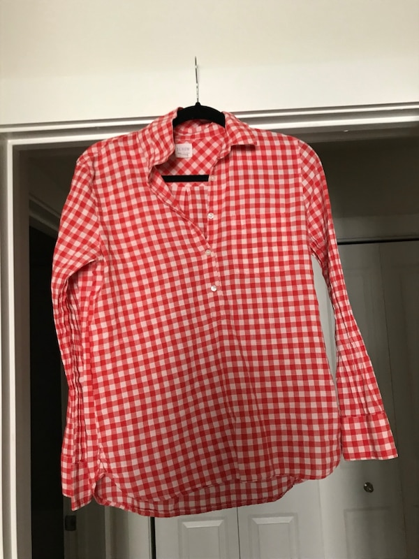 d16ed49cdab Used red and white checkered dress shirt for sale in Sandy Springs ...