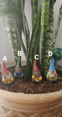 "5"" Hand painted African American Gnome collectibles"