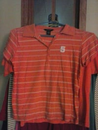 Orange American Eagle Polo  Afton