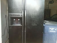 black side-by-side refrigerator with dispenser Fort Worth, 76137