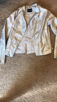 small express silver leather jacket Meridian, 83642