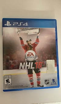 PS4 NHL 16 Video Game Disk, can play online with friends or anyone