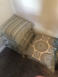 Beautiful blue and whitish pillows $15 each $50 for all never used Herndon, 20171