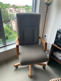 Office Chair with Oak arms and legs Mc Lean, 22102