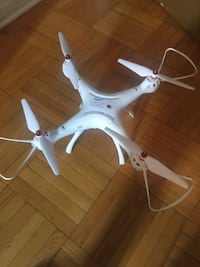 White quadcopter with remote control Toronto, M8Y 1T7
