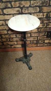 Marble top, cast iron base  Kenosha, 53142