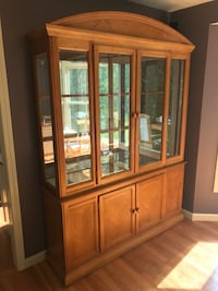 brown wooden framed glass display cabinet Haverhill, 01832