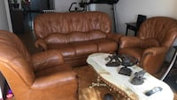 brown leather 3-seat recliner sofa Richmond Hill, L4C 0C3