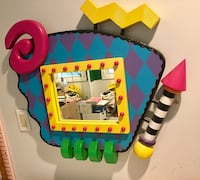 Whimsical mirror bright fun colors  Bloomfield Hills, 48301