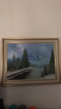 brown wooden framed painting of trees 435 mi