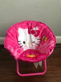 pink and white Minnie Mouse moon chair 65 km
