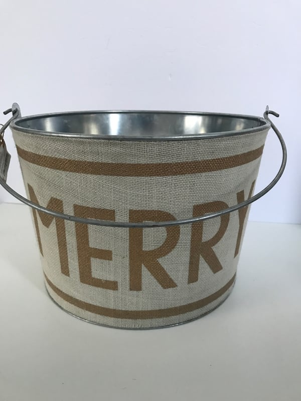 New w/Tags!  MUD PIE Holiday Metal Beverage Bucket Party 3