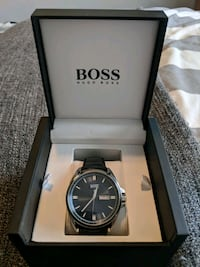 Blue dial Hugo Boss Watch W/black leather strap Vaughan, L4L 5G2