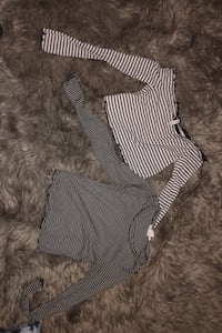 Two long sleeve striped shirts New Westminster, V3L 2M4