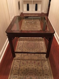 Wooden Table with Glass Top Macon