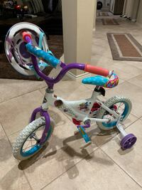 Kids bicycle with training wheels (ages 4-7) with helmet
